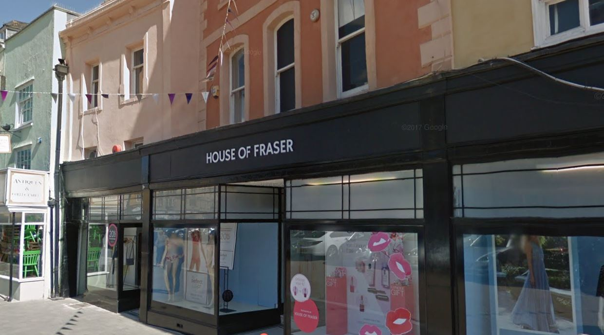 House of Fraser takes its website offline