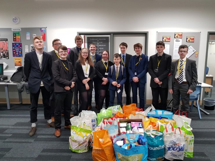 College Staff And Pupils Smash Target For Food Bank Donations