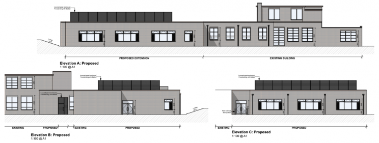 Elevations of the new block. Picture: Quattro Design Architects