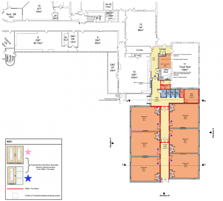 Floor plan of the new block. Picture: Quattro Design Architects