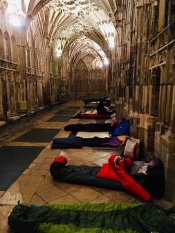 Cloister Challenge sleep-out celebrates fifth year at Gloucester Cathedral Image