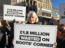 Council and Boots Corner protesters on collision course today Image
