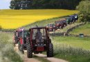 Blue skies for the Bluebell Tractor Run Image