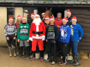 Christmas jumpers on show at Cheltenham Racecourse Image