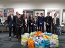 College staff and pupils smash target for food bank donations Image